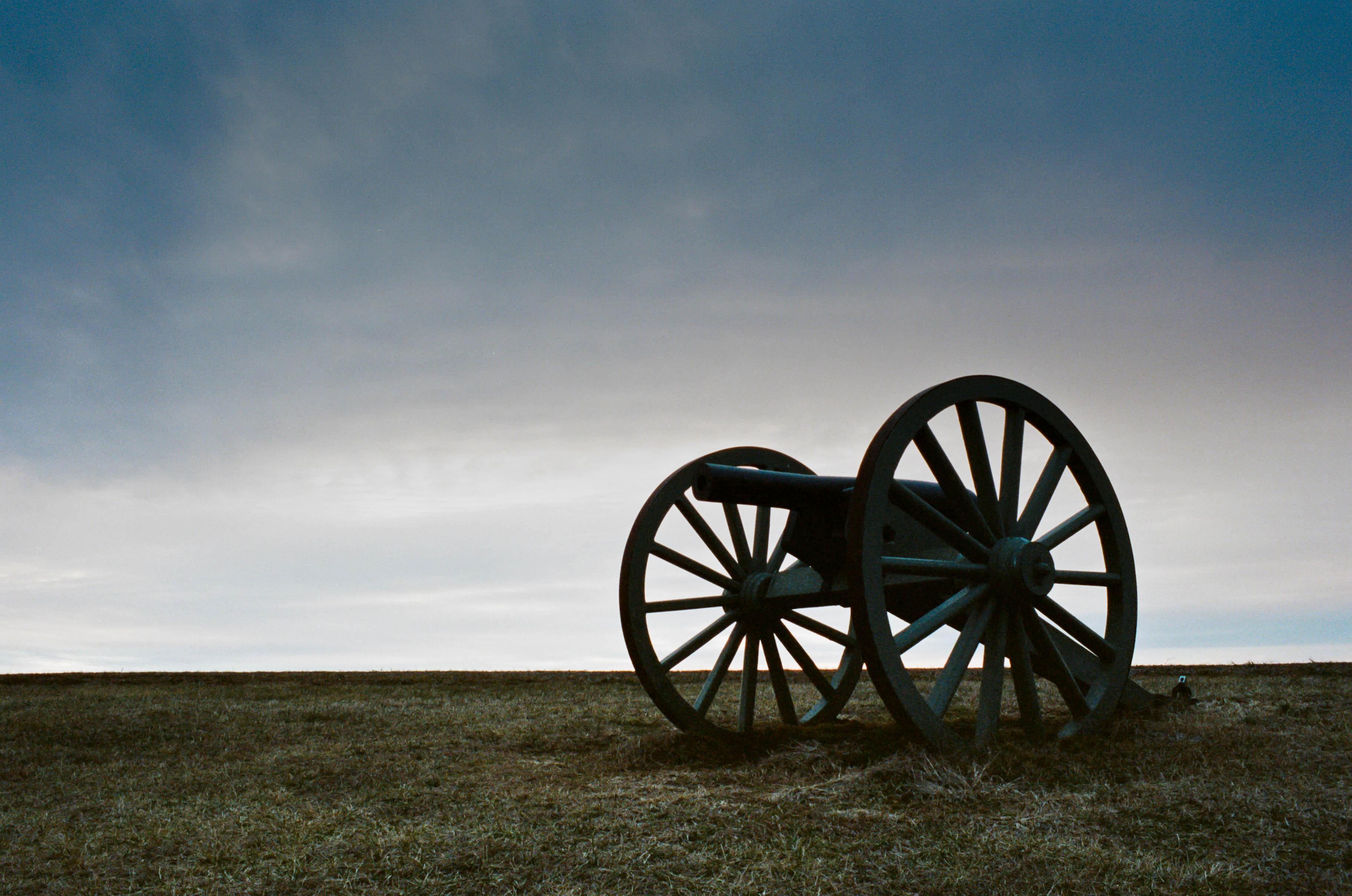 Civil War Cannon at the Spring Hill Battle Field just after Sunset -  Tennessee