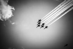 Blue Angel Flyover - Black & White